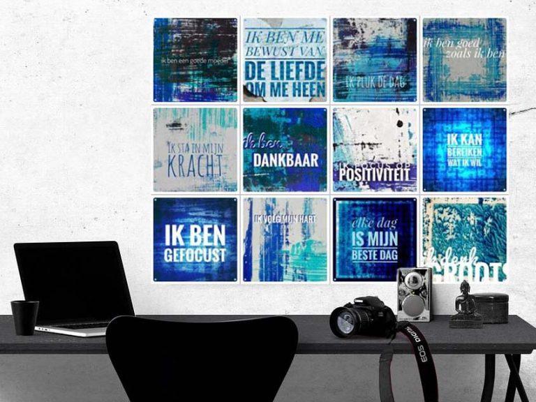 ixxi, flexibel, ophangsysteem, aan de muur, krachtkaarten, positieve affirmaties, uniek, werkkamer, woonkamer, wachtkamer, kunst, kunstzinnig, betekenisvol, quotes, wanddecoratie, mooi