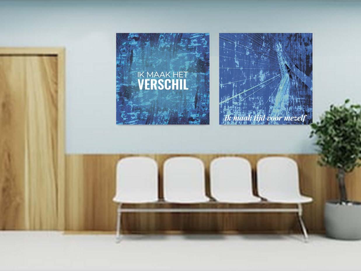canvas, aluminium, fortex, uitstraling, krachtig, aan de muur, krachtkaarten, positieve affirmaties, uniek, werkkamer, woonkamer, wachtkamer, kunst, kunstzinnig, betekenisvol, quotes, wanddecoratie, mooi