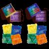 Krachtkaarten Met Caracter Zonnestralen Regenboogkracht Combiset aanbieding voor jong en oud(er), voor ouder en kind, kleurrijk, vrolijke illustraties, positieve affirmaties chakrakleuren regenboogkleuren regenboog chakra's