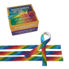 Regenboogelastiek Krachtkaarten combiset Zonnestralen en Regenboogkracht positieve affirmaties regenboog elastiek met caracter