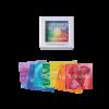 Meegeefkaartjes Zonnestralen in doosje Krachtkaarten Met Caracter Carine Braakenburg van Backum coachtool coachkaarten
